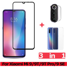 лучшая цена 3-in-1 Tempered Glass for Xiaomi Mi 9 SE 9T Mi9t Camera Glass Xiaomi Mi 9 SE Screen Protector Film Xiaomi Mi 9T Pro Glass
