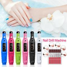 New Professional Electric Nail Drill Machine Manicure Machine Pedicure Drill Set Ceramic Nail File Nail Drill Equipment Tools tanie tanio ELECOOL CN(Origin) STAINLESS STEEL EU Plug Written grinding machine 2 4mm 3 000 to 13 000 RPM Rose Red and Blue AC 110-240V 50 60HZ