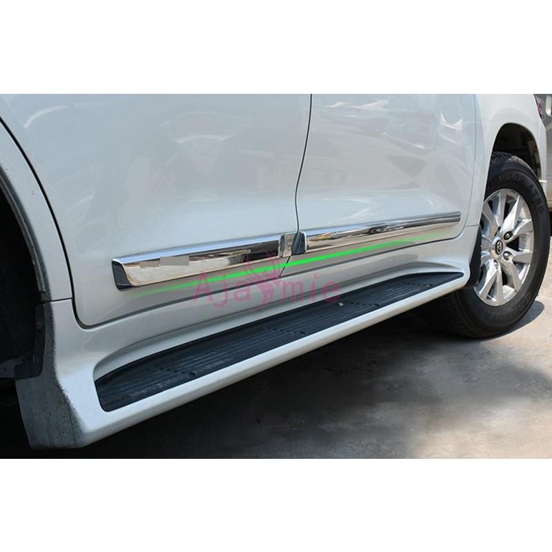 4Pcs Door Sill Scuff Plate Guard Trim Fit for Land Cruiser LC200 FJ200 2008-2018