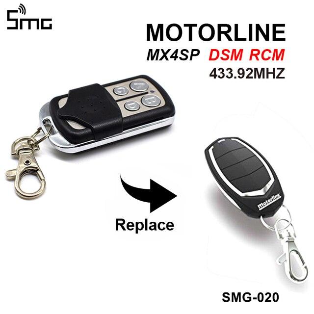 جهاز التحكم عن بعد في مفتاح الموتور الناسخ للدراجات النارية MX4SP RCM DSM فتحت باب المرآب 433.92MHz سلسلة مفاتيح القيادة للحاجز