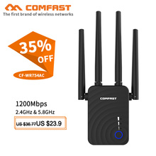 Comfast CF-WR754AC 5Ghz WiFi Repeater Wifi Extender 1200Mbps Wi-Fi Amplifier 802.11AC Long Range Wi fi Signal Booster Repiter