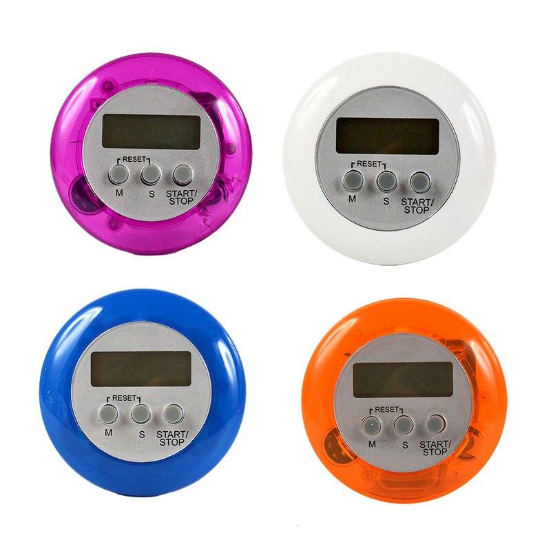 Temporizador de Cozinha Digital Contagem Regressiva Magnética Volta Suporte Cozinhar Ferramenta Despertador Adesão Suprimentos Práticos Gadgets 5 Cor 10 Pçs