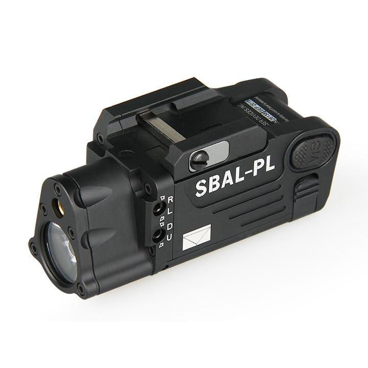 500 lums white light rifle flashlight weapon flashlight with red laser for pistol rail M1913 rail gz150080