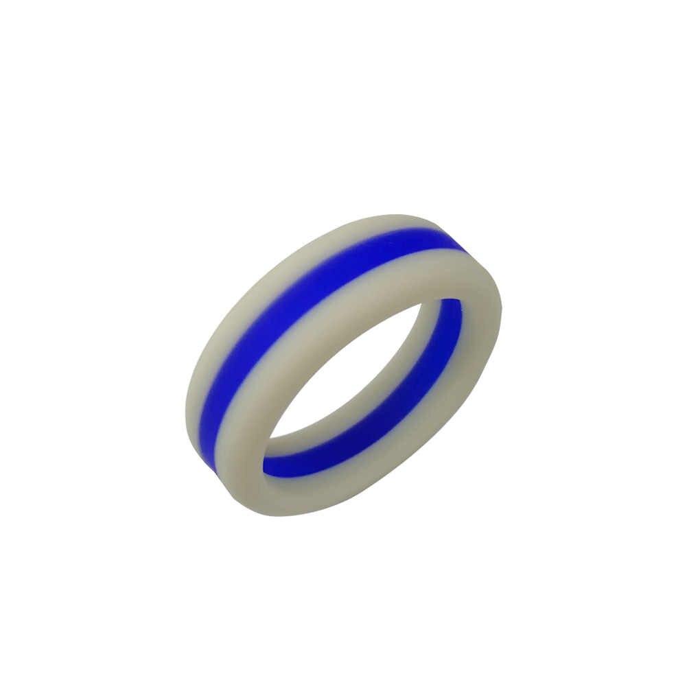 8 ミリメートルシリコーンリングゴム柔軟なリングバンドウェディング婚約ジュエリーギフト XIN-無料