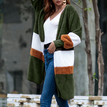 Cardigans Knitted Sweaters Women Autumn Modish Thin Striped