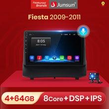 Junsun v1 2g + 32g android 10.0 dsp para ford fiesta 2009 2010 2011 rádio do carro reprodutor de vídeo multimídia navegação gps 2 din dvd