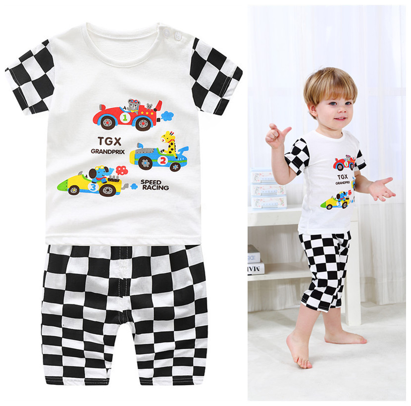 Pudcoco Girl Clothes 2Y-8Y 2Pcs Baby Girls Kid Clothes Short Sleeves T-Shirt+Trousers Pants Outfits Sets AU Kids cb5feb1b7314637725a2e7: Striped
