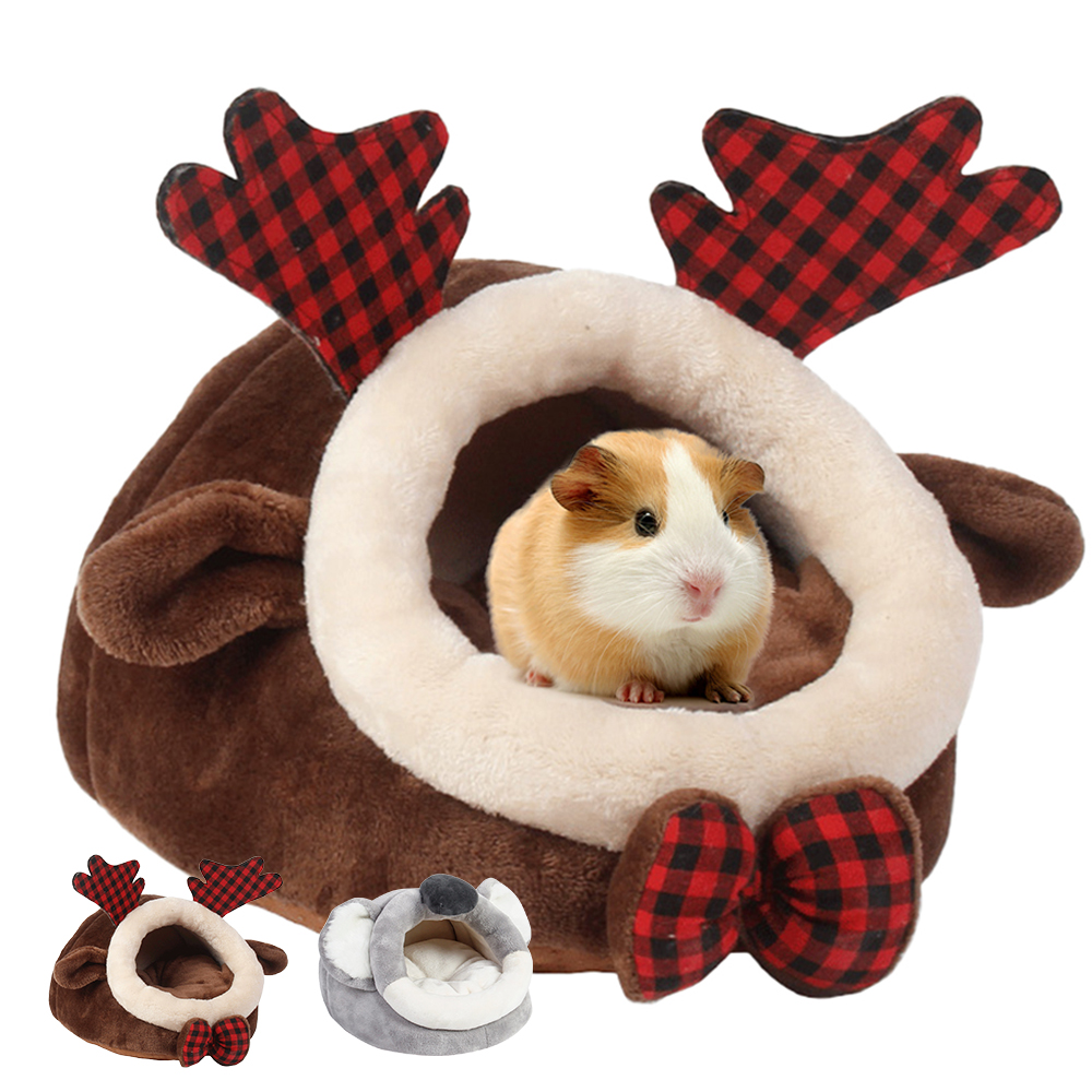 Winter Warm Hamster Nest Hedgehog Yurt Bed Kennels Mouse Chicken Cotton House Small Animal Beds Cave Pet Supplies Mice Rat Nest