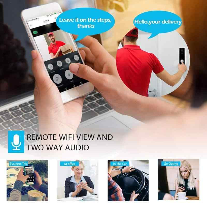 Tuya 1080P Smart Video Bel Pintu Nirkabel WiFi Video Intercom APP Remote Kontrol Pintu Bell IP Kamera Keamanan Rumah Monitor