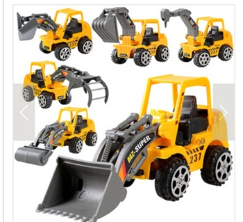 Kids Toy Mini Engineering Vehicle Car Truck Excavator Model Toys Boy Gifts (Color: Yellow) IFA image