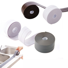 PVC Self Adhesive Sealant Strip Tape Waterproof Sink Basin Edge Sealing Home Kitchen Bathroom Wall Floor Corner Bathtub