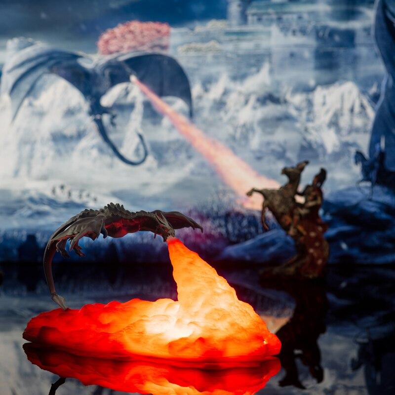 Новинка 2020, Прямая поставка, 3D светодиодные лампы с принтом дракона, как ночник для дома, горячая Распродажа, чем лунный светильник, ночники,