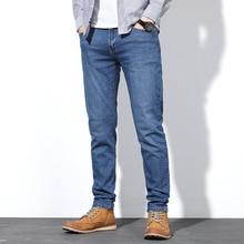 גברים של סתיו למתוח ג ינס זכר אופנה עסקי קלאסי סגנון סקיני מכנסיים Hombre ג ינס מכנסיים בתוספת גודל 30 38 40 44 46 48