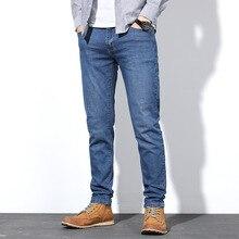 Outono calças de brim estiramento masculino moda negócios estilo clássico calças magras hombre calças jeans plus size 30 38 40 44 46 48