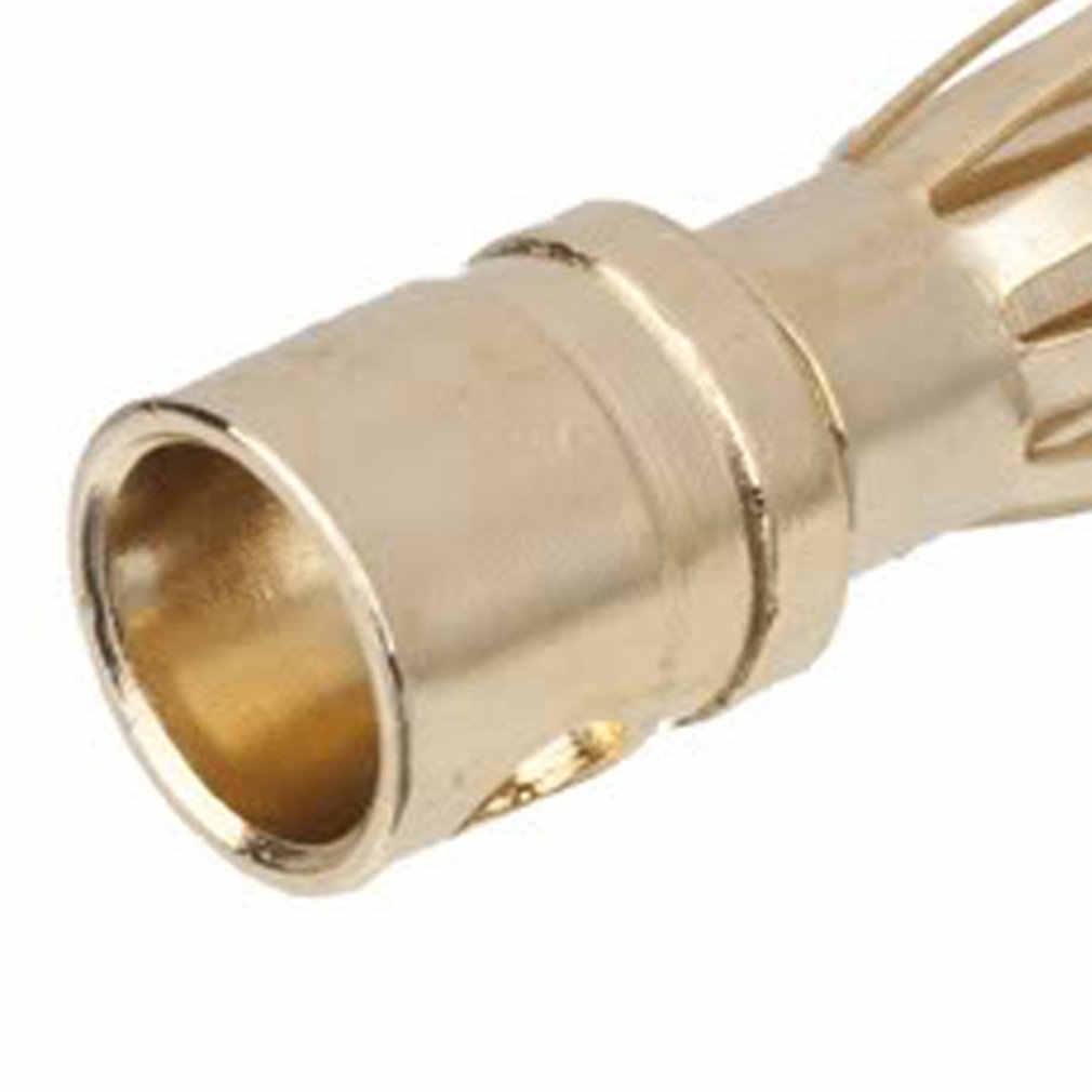 Conector macho y hembra de 4,0mm con conector Banana dorado para batería Motor ESC de diseño exquisito duradero precioso mejora de piezas de coche