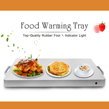 Electric Stainless Steel Food Warmer Tray Adjusting Temperature Hot Plate for Buffet Chafing Dish Heat Machine electric bain marie for commercial kitchen mini automatic stainless steel buffet catering food warmer machine