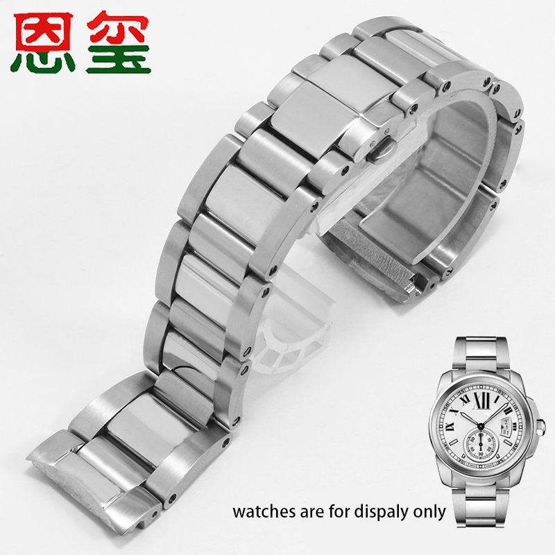 316L Stainless Steel watchbands 23mm silver wristband Arc interface strap Replacement belt for W71000 series watch accessories