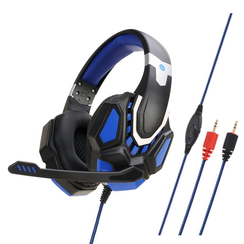 2020 New Gaming Headsets Big Headphones With Mic Stereo Earphones Deep Bass For PC Computer Gamer Laptop PS4 USB Headphone image