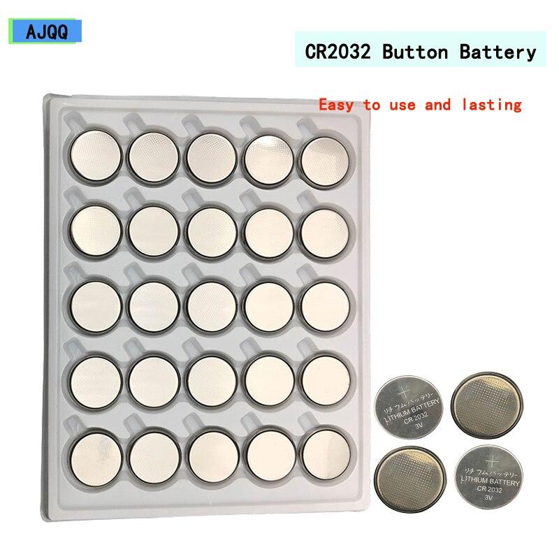 Atacado 100PCS pilas cr 2032 Nova Cr2032 3v pilas boton Relógio knopfzelle Computador батарейки 2032 eletronicos parágrafos veiculos