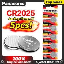 PANASONIC 5 pièces 3V bouton pile au Lithium CR2025 LM2025 BR2025 DL2025 KCR2025 pour jouet de télécommande de carte principale