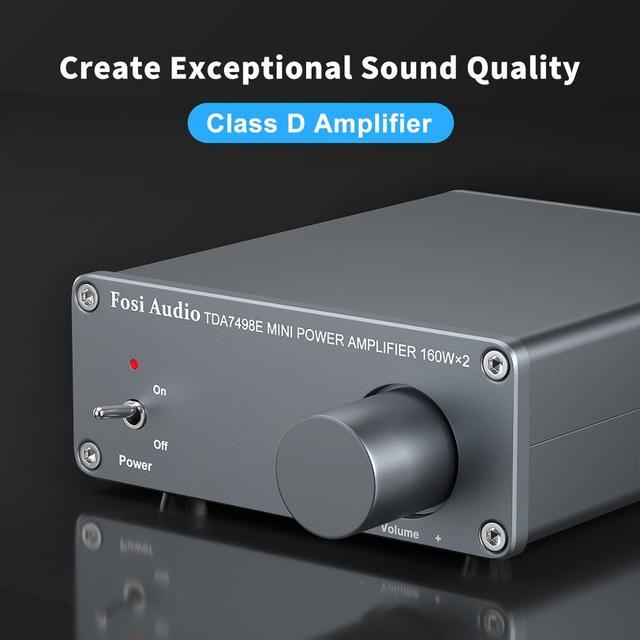 Усилитель мощности Fosi Audio TDA7498E, 2*160 Вт