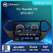 For Hyundai Grand I10 Car Radio 2013-2016 Car Radios with Navigation Android 9.0 2din DVD CD Stereo Multimedia Player Bluetooth