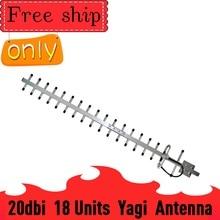 Antena Yagi externa para exteriores, 2g, 3g, 4g, 20dBi Gain, 700 2700mhz, 3G, 4g Lte, con N hembra