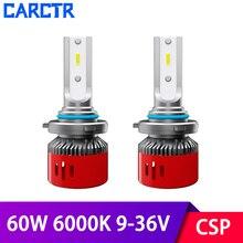 CSP LED Headlight Bulbs for Car H1 H7 Led Lamp H11/H8/H9 9005/H10 9006 9003 H4 Headlamp 6000K 60W 9-36V Modified Car Lights 1903