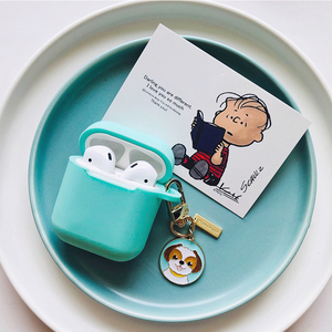 Image 5 - Cute Cartoon Dog Silicone Case for Apple Airpods Cover Case Accessories Bluetooth Earphone Headphones Protective Decor Key Ring