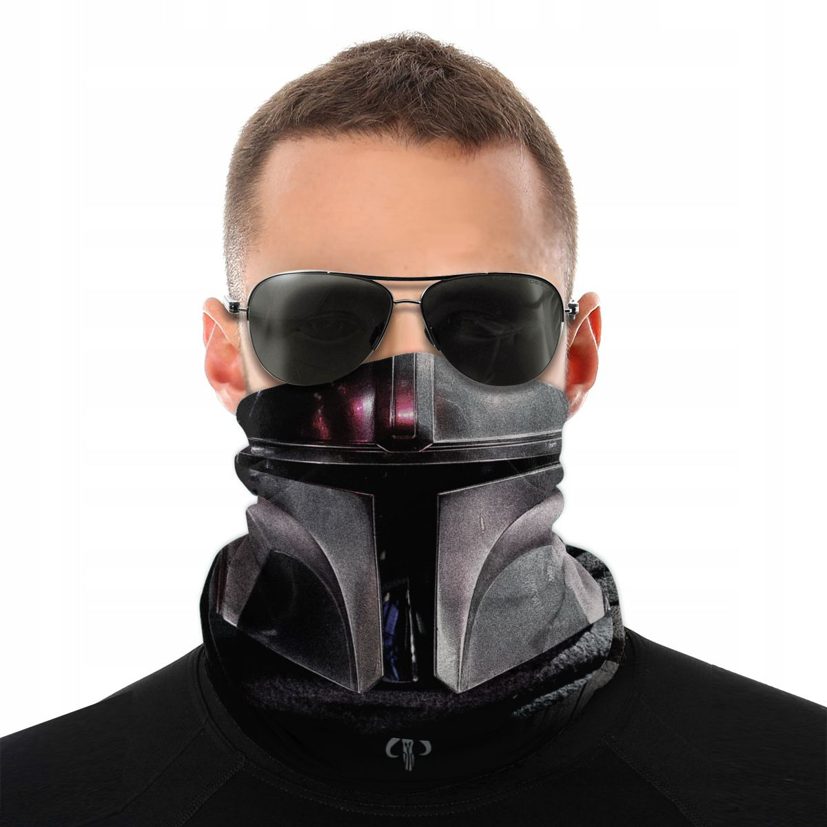 The Mandalorian Scarf Neck Face Mask Men Women Fashion Neck Gaiter Star Wars Balaclava Bandana Windproof Headwear Biking Camping