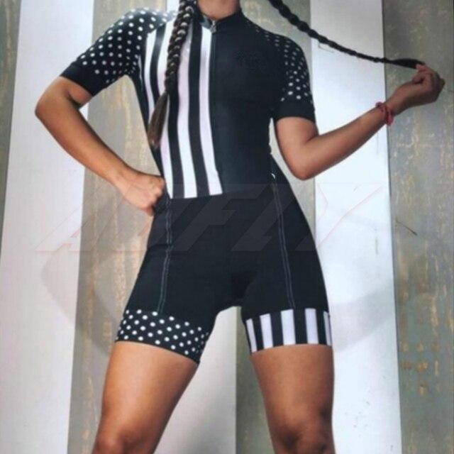 Aofly macacão feminino de manga curta, roupa de ciclismo go pro mtb, macacão 9d com almofada em gel, 2020 verão 3