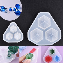 3 In 1 Diamond Transparent Silicone Mould Resin Molds For DIY Diamond Pendant Cutting Shape Crystal Diamond Mould For Jewelry