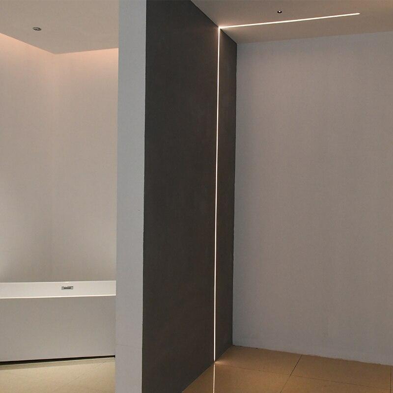 SCON 24V 4W/M 1M Long Hard aluminum profile Embedded flexible led light strip 2cm Ceiling Wall Cabinet Decorative Lights 5m/lot