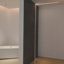 Scon tira de luz de led 24v 4 w/m, perfil de alumínio longo, embutido, flexível, 2cm de parede de teto luzes decorativas do armário 5 m/lote