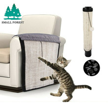 Small Forest Pet Cat Scratch Guard Mat Sisal Toy Furniture Sofa Claw Protector Pads For Table Chairs Sofa Legs Handrail(China)