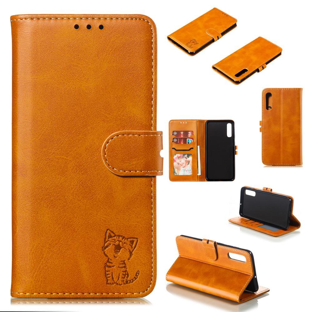 Leather <font><b>Flip</b></font> Cat <font><b>Case</b></font> For <font><b>Samsung</b></font> A10 A20 A30 A40 A50 A60 A70 <font><b>A80</b></font> M20 M30 M40 <font><b>Case</b></font> For <font><b>Samsung</b></font> A7 A9 2018 A6 J4 J6 Plus Cover image