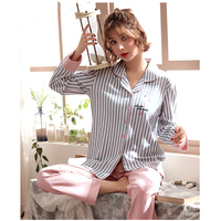 Women Clothes for Autumn winter Pajamas Sets O Neck Sleepwear Lovely Rabbit Long Sleeve Cotton Sexy Pyjamas Female