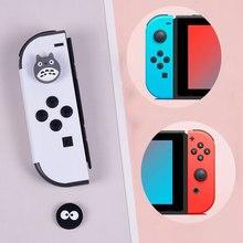 4 unids/set Joystick para Nintendo interruptor consola de juego de dibujos animados alegría desventajas proteger la cubierta controlador de interruptor Thumbstick de agarre caso