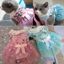 Dog Dresses for Small Dogs Pet Clothes Lace Bow Summer Princess Puppy Dress Party Wedding