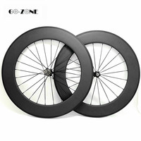 700c carbon wheelset 88x23mm Clincher or Tubular carbon wheels Novatec 271SB 372SB 100x9 130x9 hub 20/24 holes road bike wheels