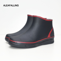 Rain Boots Waterproof Shoes Woman Water Rubber Lace Up Mature Boots Solid Labor Force Shoes Relax Waterproof Shoes Unisex 36 45