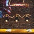 Американский кантри ретро ресторан креативная пеньковая веревка лампа Лофт гостиная спальня исследование кафе подвесные светильники ...