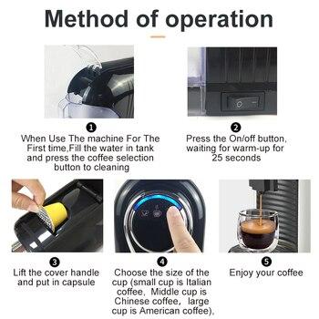 HiBREW ST-503D Espresso Machine 15Bar Pump System Coffee Makers 850W Coffee Machines  Capsule espresso machine 220-50hz 6