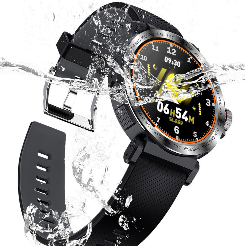 Image 5 - S18 Full Screen Touch Smart Watch IP68 waterproof Men Sports Clock Heart Rate Monitor  Smartwatch for IOS Android phoneSmart Watches   -