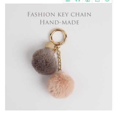 LLavero de piel de conejo de imitación pompones de leopardo Bola de Pelo llaveros bolsa de coche colgante de estampado de leopardo moño regalos llavero