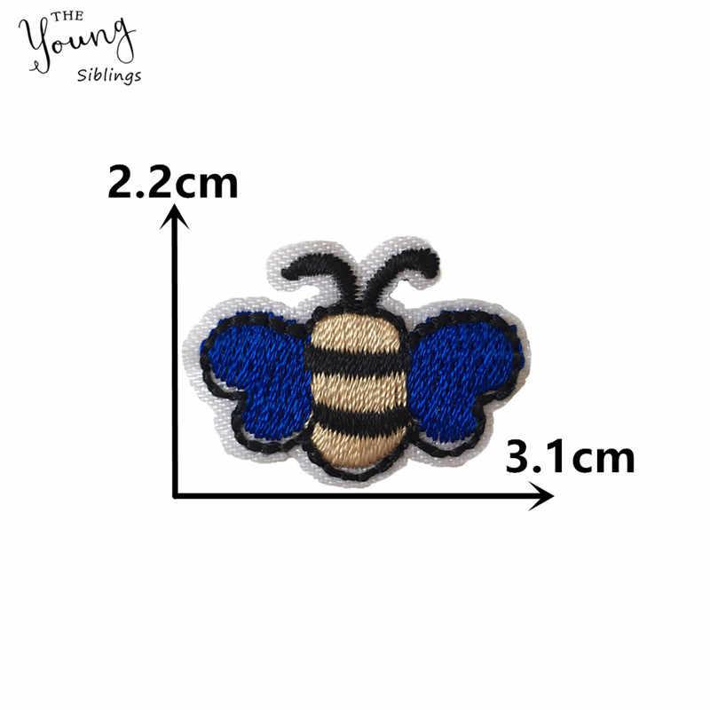 Nuevo parche de abeja de pájaro de dibujos animados adhesivo fundido caliente parche bordado de hierro en parches motivos pegatinas DIY ropa insignias Accesorios