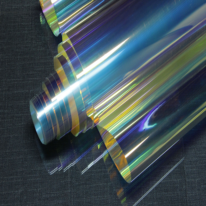 SUNICE Dichroic Window Glass Film Dichroism Transparent Two-way Window Tint Stained Glass Party Wedding Christmas DIY Cosplay