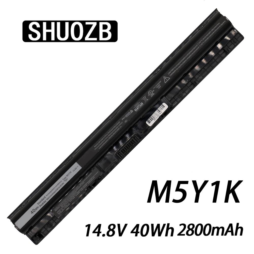 M5Y1K K185W Laptop Battery For DELL Vostro 3451 3458 3551 3558 V3458 V3451 N3558 N5558 WKRJ2 GXVJ3 HD4J0 14.8V 40WH SHUOZB NEW