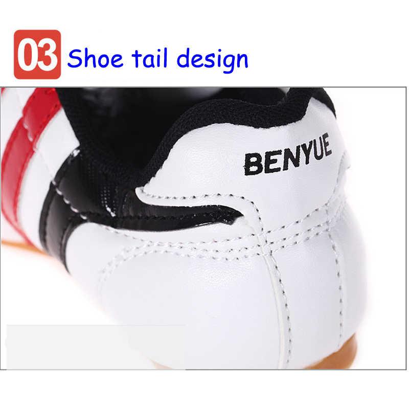 أحذية التايكوندو الكونغ فو الرياضية للملاكمة بنعل ناعم يسمح بالتهوية أحذية رياضية من Taichi الكاراتيه فنون الدفاع عن النفس بجودة عالية ترس مصارع