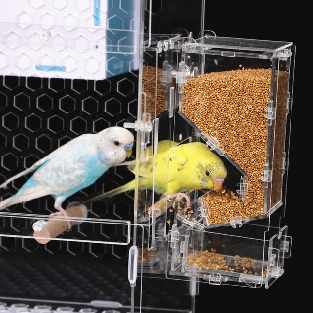 Transparent Parrot Cage 4